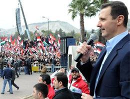 Suriye Devlet Başkanı Beşar Esad, dün Şam Üniversitesinde yaptığı konuşmanın ardından bugün de başkentin en büyük meydanında halka seslendi