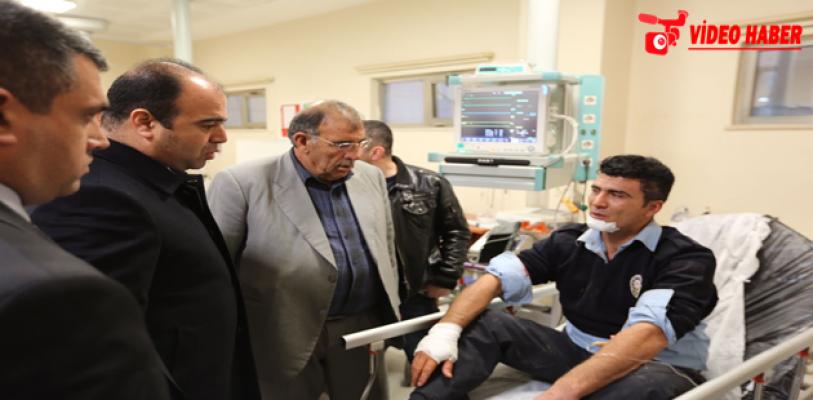 Başkan Çiftçi, yaralı polisleri ziyaret etti