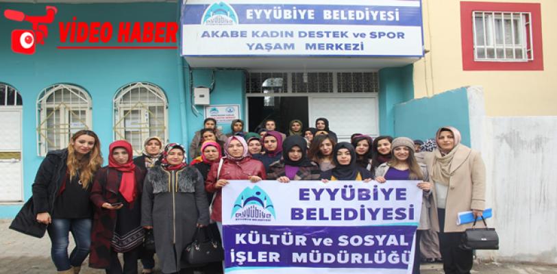 Eyyübiye 'de Bayan Kursiyerler Sinema İle Buluştu