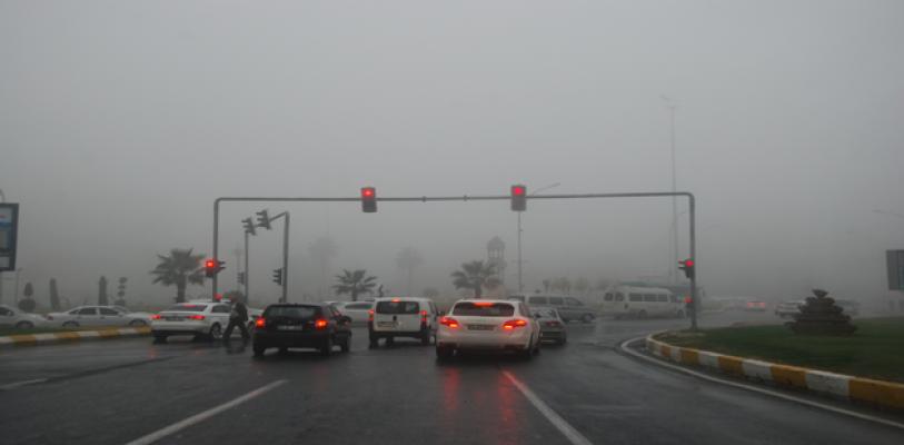 Urfa'da sis etkili oldu