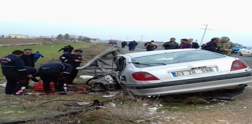 Urfa'da kaza, 1 ölü, 6 yaralı