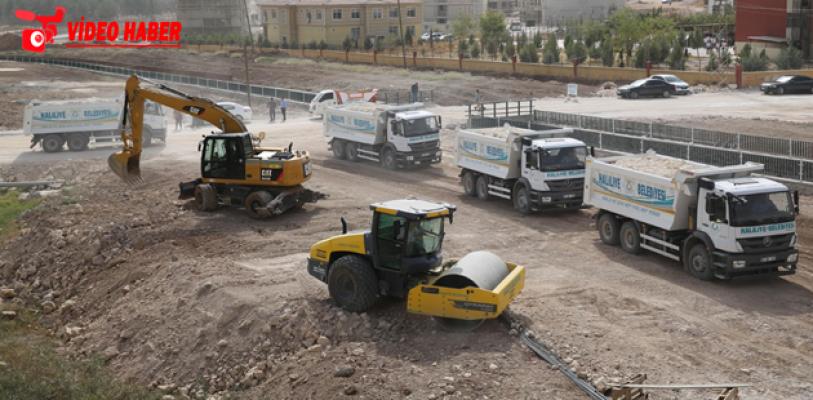 975 Bin Metrekare Kilitli Beton Parke Döşendi