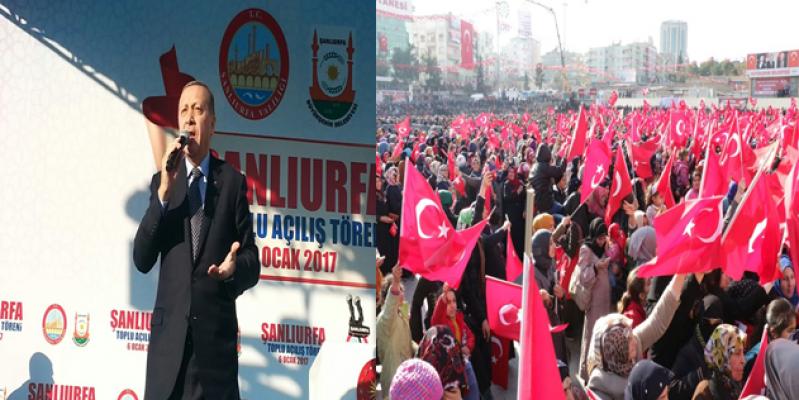 Cumhurbaşkanı  Erdoğan, bu millet darbecileri püskürtü