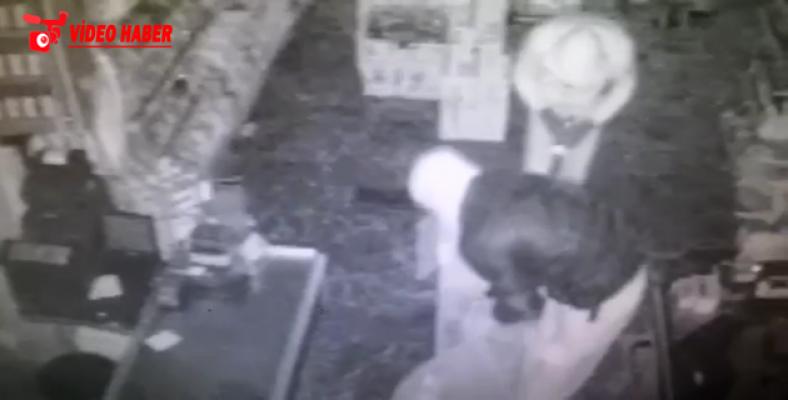 Hırsızlık zanlıları güvenlik kamerasına takıldı