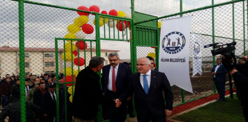 Urfa cezaevine halı saha yapıldı