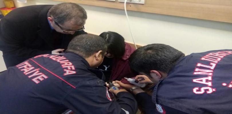Urfa'da genç kızın feryadına itfaiye yetişti
