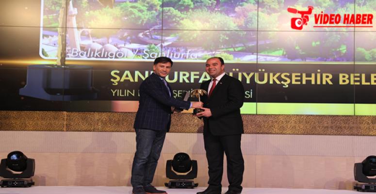 Başkan Çiftçi, Altın Palmiye'de Yılın Belediye Başkanlığına Layık Görüldü
