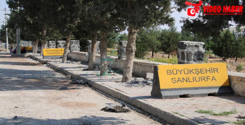 Büyükşehir Ceylanpınar İlçe Mezarlığını Onarıyor