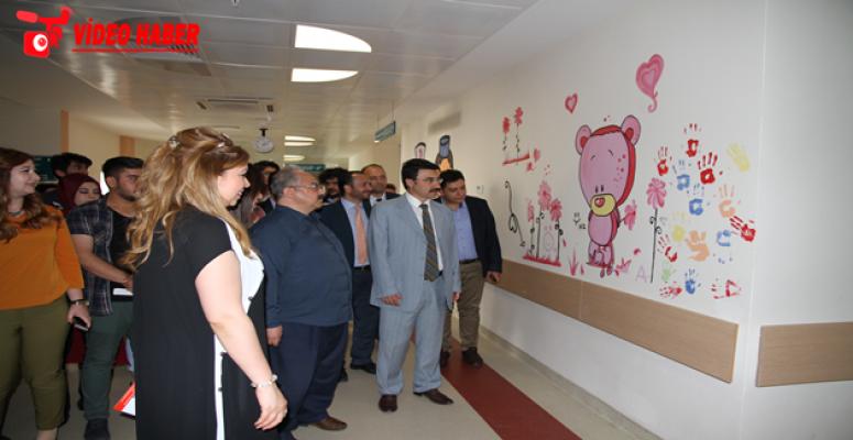 Harran Tıp Hastanesi Renklendi,  Hasta Çocukların Yüzü Güldü