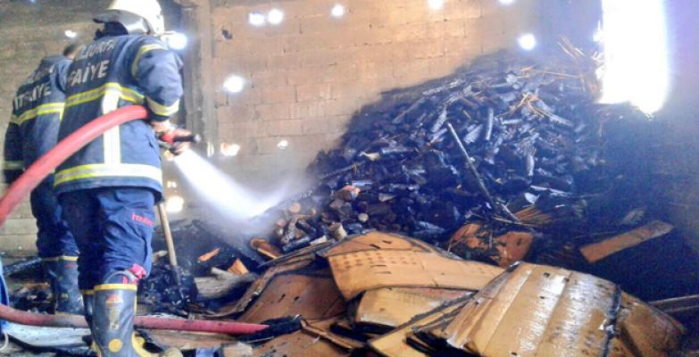 Eyyübiye'de yangın paniğe neden oldu
