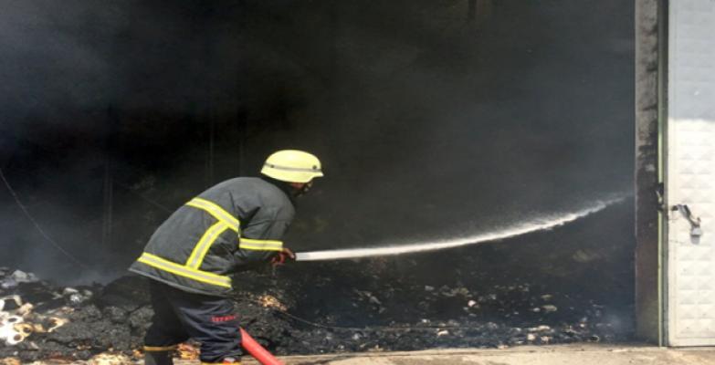 Şanlıurfa'da fabrika yangını uzun uğraşlar sonucu söndürüldü
