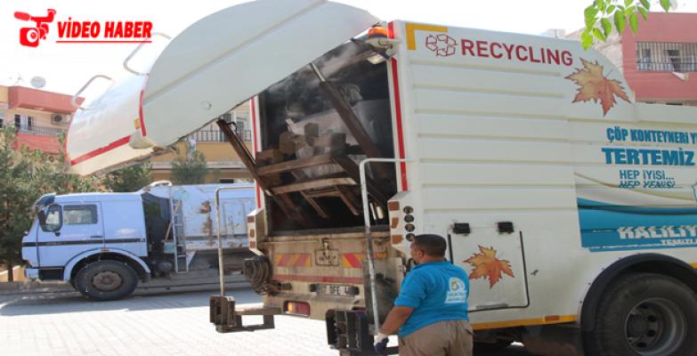 Haliliye'de Çöp Konteynerleri Dezenfekte Ediliyor