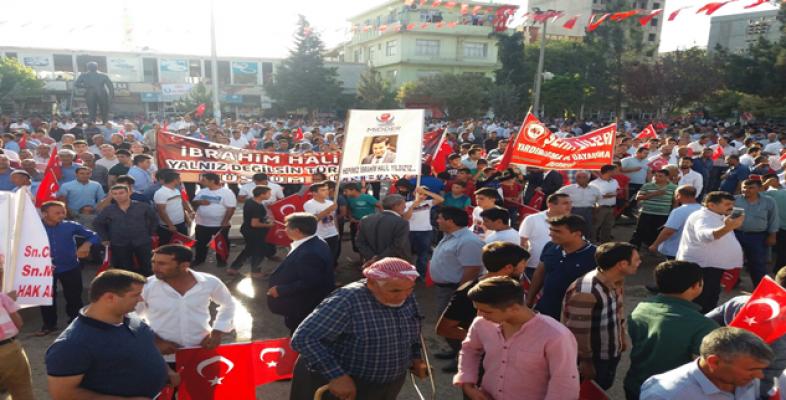 Suruç'ta binler teröre hayır yürüyüşünde buluştu