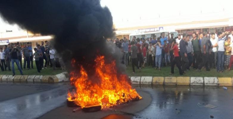 Eyyübiye'de Elektrik Kesinti Protestosu