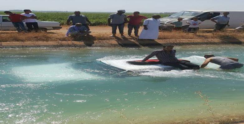Urfa'da Otomobil İçersinde Bulunan 5 Kişi Kanala Uçtu