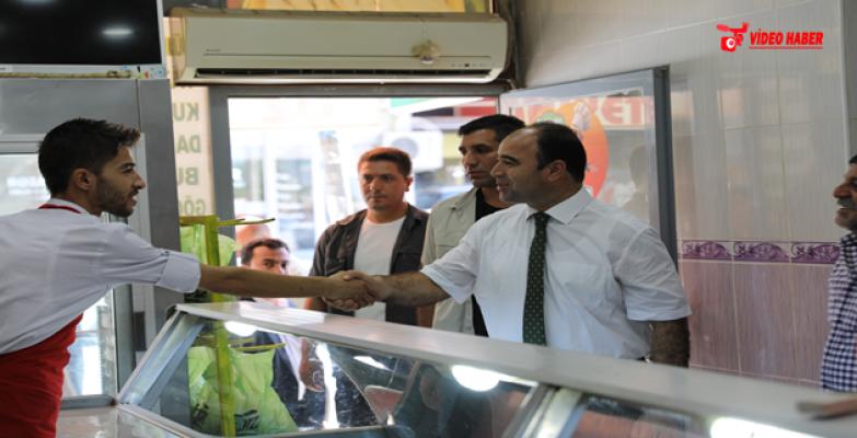 Başkan Çiftçi, Siverek Ve Hilvan'da Vatandaşlarla Bayramlaştı