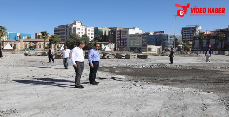 Rabia Meydanında İzolasyon Çalışması Devam Ediyor