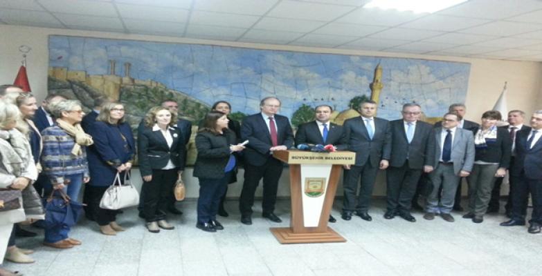 AB'nin 24 ülke büyükelçisi Şanlıurfa Büyükşehir Belediyesini Ziyaret Etti