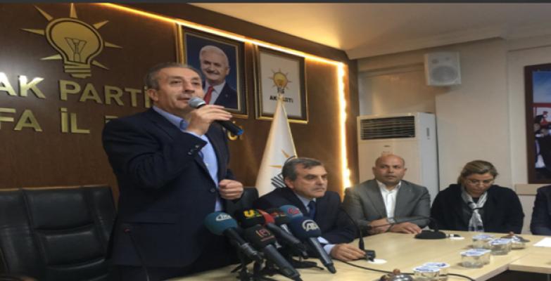 AK Parti Genel Başkan Yardımcısı Mehdi Eker Şanlıurfa İl Başkanlığında