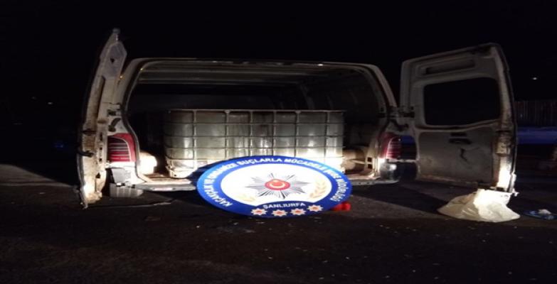 Şanlıurfa'da 9 ton kaçak akaryakıt ele geçirildi