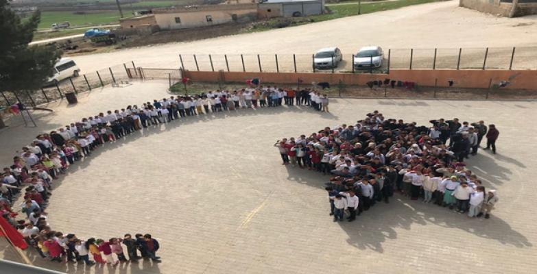 Urfa'daki öğrencilerden Afrin'deki Askerlere Destek