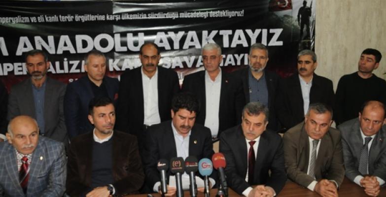 Urfa'da STK'lar Afrin'e destek için toplandılar