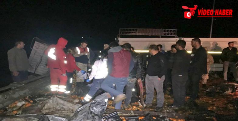 Urfa- Antep otoyolunda kaza, 2 ölü, 1 yaralı