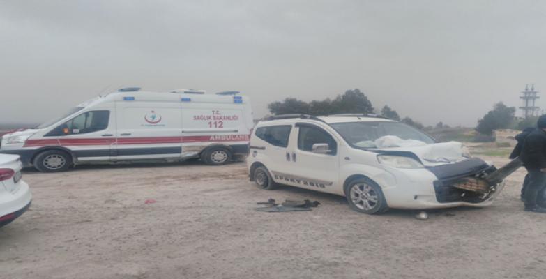 Urfa'da Ambulans Kaza Yaptı, 2 Yaralı