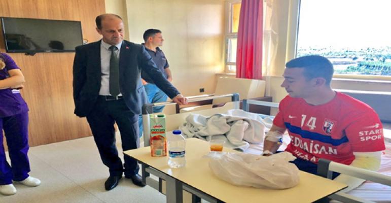 Başkan Yavuz'dan Yaralı Askerlere Ziyaret