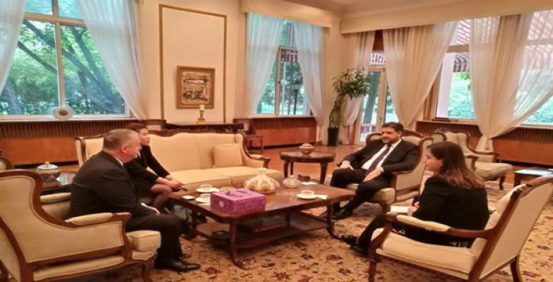Büyükelçi Önen, Urfa heyetiyle bir araya geldi
