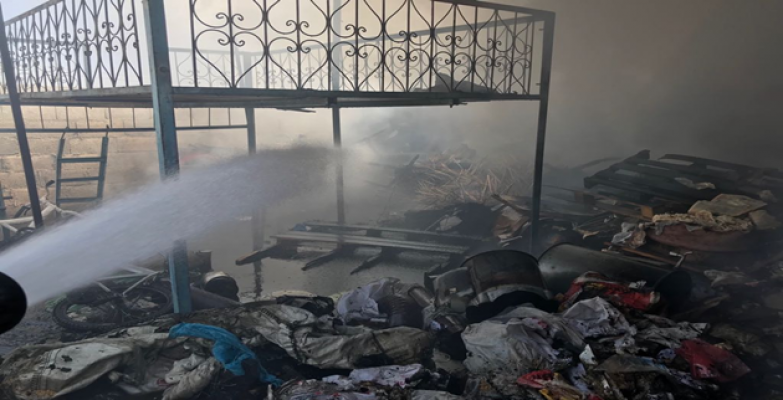 Urfa'da Mesken Yangını Paniğe Neden Oldu