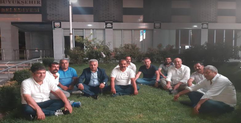 Şanlıurfaspor'da Başkan Oturma Eylemi Yaptı