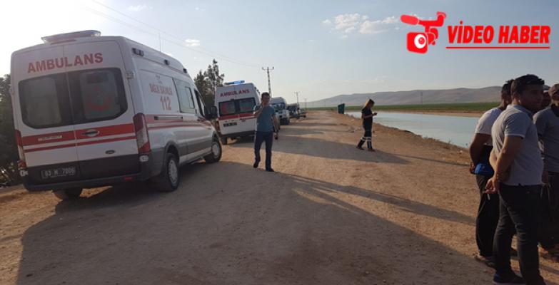 Urfa'da Araç Sulama Kanalına Düştü