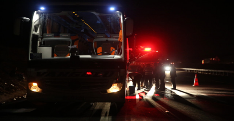 Yolcu Otobüsünde Yangın Paniği
