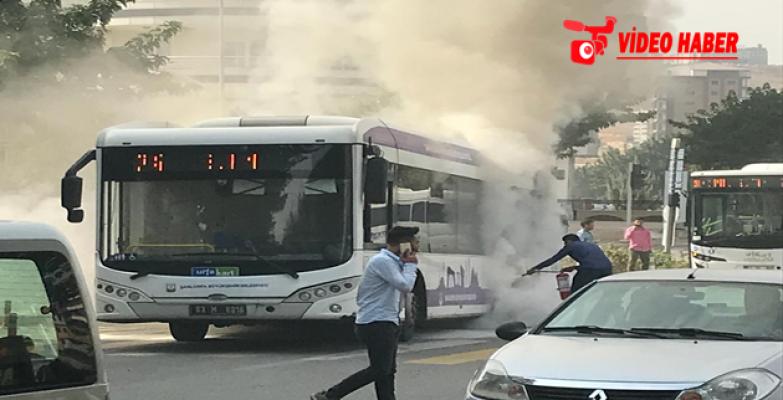 Şanlıurfa Şehir İçi Otobüsünde Yangın