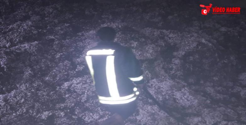 Şanlıurfa'da Pamuk Fabrikasında Yandı