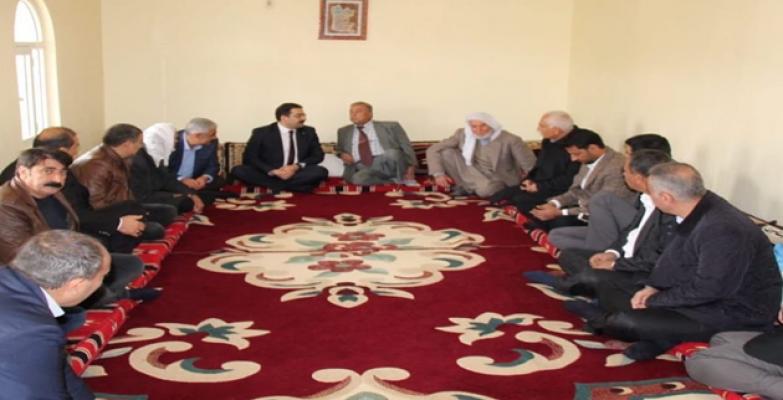 AK Parti Haliliye Belediye Başkan adayı Mehmet Canpolat destek arayışında;