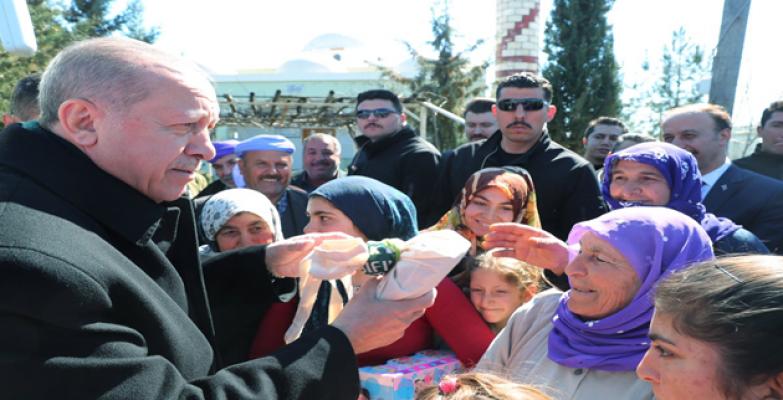 Cumhurbaşkanı Erdoğan Karaköprü İlçesine Bağlı Uğurlu Kırsal Mahallesi'nde Kıldı.