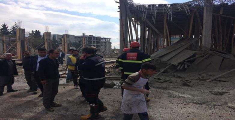 Eyyübiye'de İnşaat Çöktü: 1 İşçi Yaralı