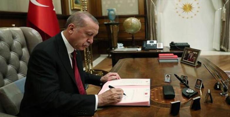 Erdoğan'ın İmzaladı