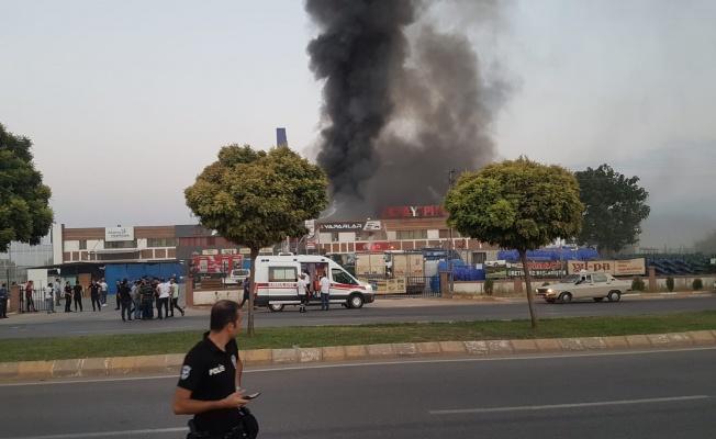 Şanlıurfa'da İş Yerinde Büyük Yangın