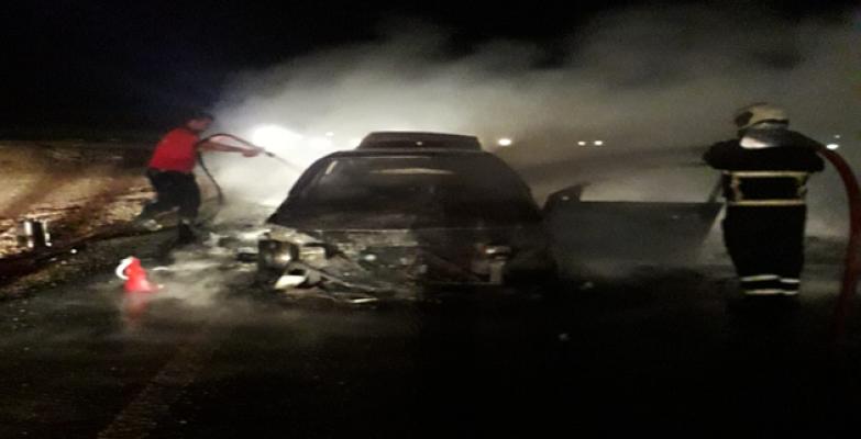 Urfa'da Araç Yangını
