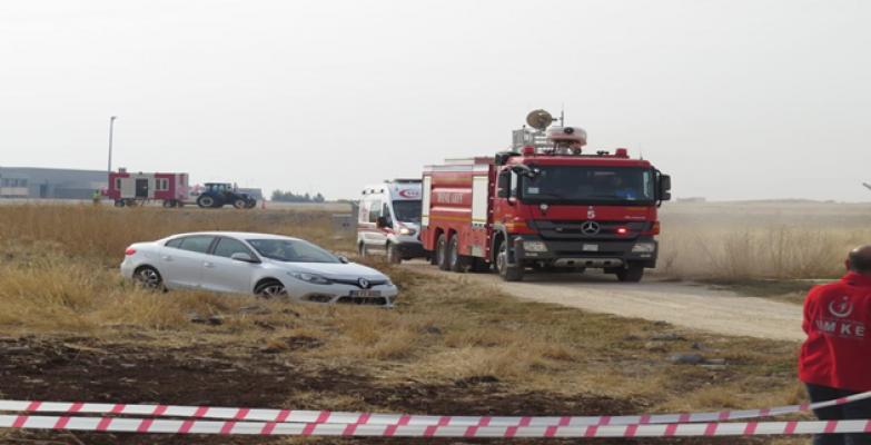 Urfa Havalimanında yangın tatbikatı