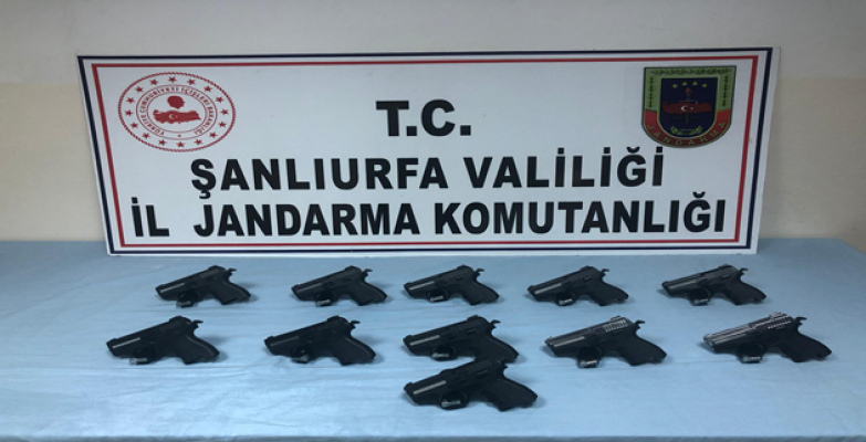 Urfa'da çok sayıda silah ele geçirildi