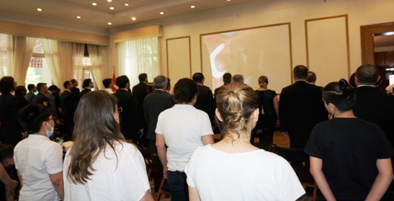 15 Temmuz Çin Pekin Büyükelçiliğinde anıldı