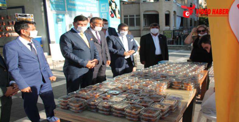 ANAVATAN Şanlıurfa il başkanlığı demokrasi şehitleri için lokma dağıttı