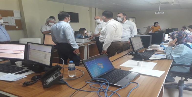 Urfa İl Sağlık müdürü kovid-19 merkezini ziyaret etti!