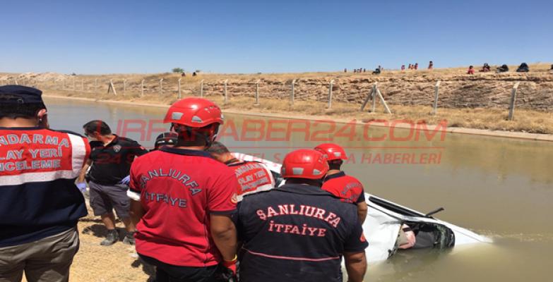 Urfa'da otomobil sulama kanala düştü, 3 kişi öldü