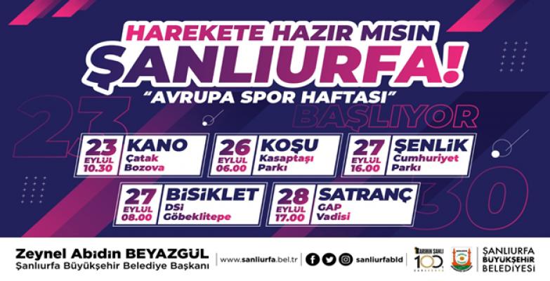 Büyükşehir İle Avrupa Spor Haftası Başlıyor
