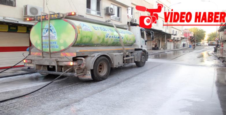 Eyyübiye Belediyesi Temizlik Ekibi Durmadan İş Başında